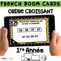 BOOM CARDS - MATHS - ORDRE CROISSANT - 1re