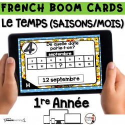 BOOM CARDS - MATHS - LE TEMPS - 1re