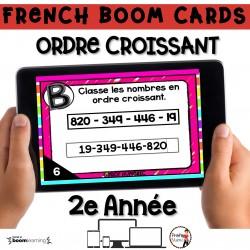 BOOM CARDS - MATHS - Ordre Croissant - 2e