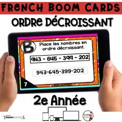 BOOM CARDS - MATHS - Ordre Décroissant - 2e