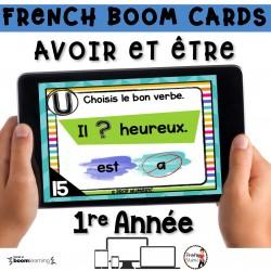 BOOM CARDS - GRAMMAIRE 1re - AVOIR-ÊTRE