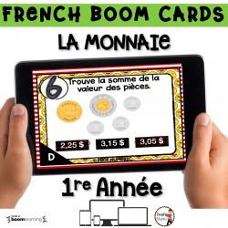 BOOM CARDS - MATHS - LA MONNAIE - 1re