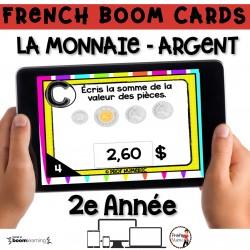 BOOM CARDS - MATHS - LA MONNAIE - 2e