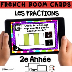 BOOM CARDS - MATHS - LES FRACTIONS - 2e