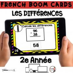 BOOM CARDS - MATHS - LES DIFFÉRENCES - 2e