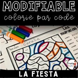 Colorie le code MODIFIABLE/ LA FIESTA