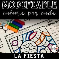 Colorie le code MODIFIABLE/ LA FIESTA