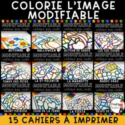 Colorie par code MODIFIABLE/ ENSEMBLE COMPLET