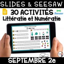 Seesaw + Google Slides - SEPTEMBRE - 2e