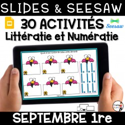 Seesaw + Google Slides - SEPTEMBRE - 1re