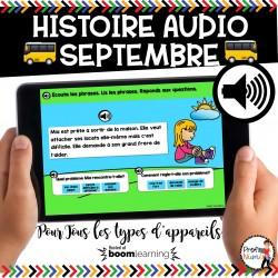 BOOM CARDS - HISTOIRE AUDIO RÉCIT - SEPTEMBRE