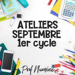 SEPTEMBRE - ATELIERS 1er CYCLE - INPIRATION