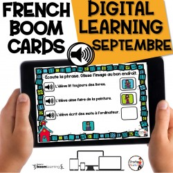 BOOM CARDS - 60 Phrases AUDIO - SEPTEMBRE