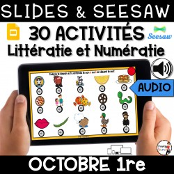 Seesaw + Google Slides - OCTOBRE - 1re