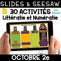 Seesaw + Google Slides - OCTOBRE - 2e