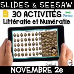 Seesaw + Google Slides - NOVEMBRE - 2e