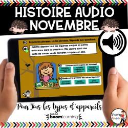 BOOM CARDS - HISTOIRE AUDIO RÉCIT - NOVEMBRE