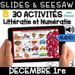 Seesaw + Google Slides - DÉCEMBRE - 1re