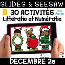 Seesaw + Google Slides - DÉCEMBRE - 2e