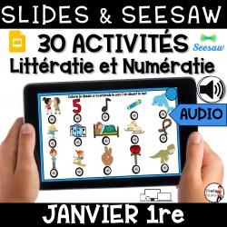 Seesaw + Google Slides - JANVIER - 1re