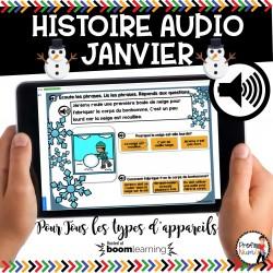BOOM CARDS - HISTOIRE AUDIO RÉCIT - JANVIER