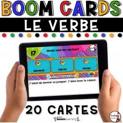 BOOM CARDS - LA GRAMMAIRE - LE VERBE