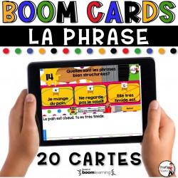 BOOM CARDS - LA GRAMMAIRE - LA PHRASE