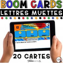 BOOM CARDS - LA GRAMMAIRE - LETTRE MUETTE