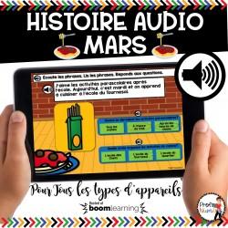 BOOM CARDS - HISTOIRE AUDIO RÉCIT - MARS