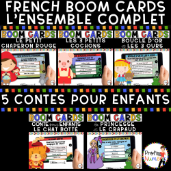 BOOM CARDS - 5 CONTES - ENSEMBLE COMPLET