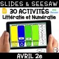 Seesaw + Google Slides - AVRIL - 2e