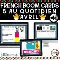 BOOM CARDS - 5 AU QUOTIDIEN - AVRIL