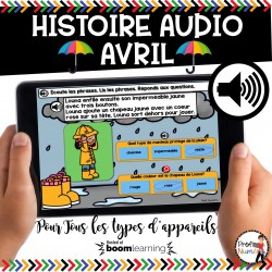 BOOM CARDS - HISTOIRE AUDIO RÉCIT - AVRIL