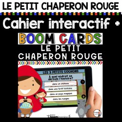 BOOM CARDS Chaperon Rouge + Cahier interactif
