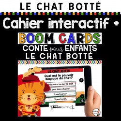 BOOM CARDS - Chat botté + CAHIER INTERACTIF