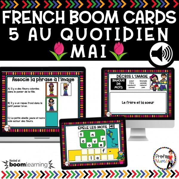 BOOM CARDS - 5 AU QUOTIDIEN - MAI