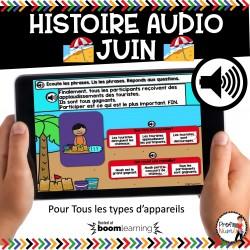 BOOM CARDS - HISTOIRE AUDIO RÉCIT - JUIN