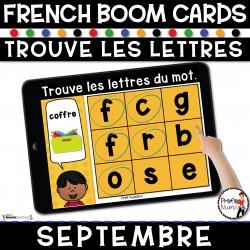BOOM CARDS   Trouve les lettres du mot - SEPTEMBRE