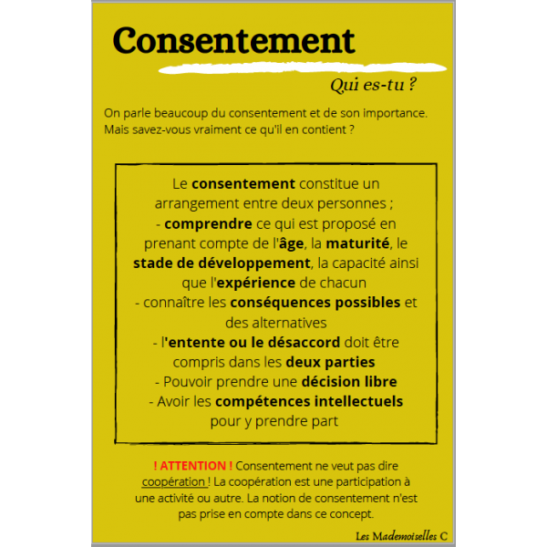 Affiches consentement vs coercition
