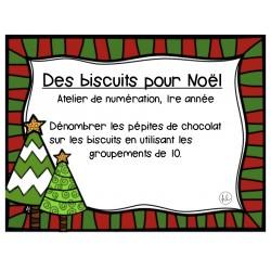 Les biscuits de Noël, cartes à tâches