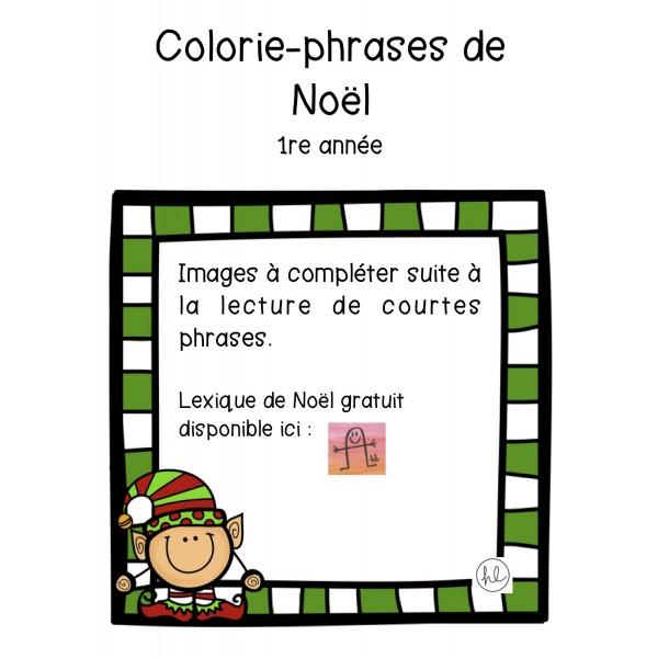 Colorie-phrases de Noël