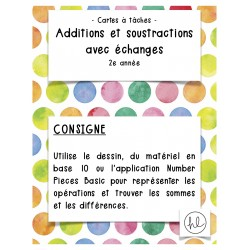 Cartes à tâches, additions et soustractions