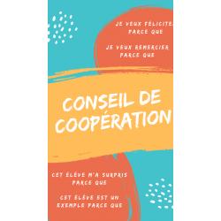 Affiches pour le conseil de coopération
