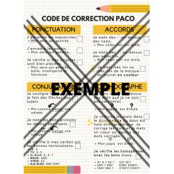 Code de correction