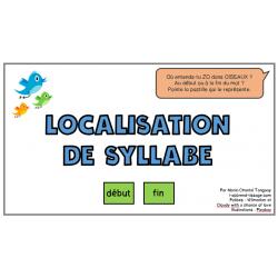 Localisation de syllabe