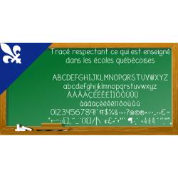 Tracé québécois (police d'écriture)