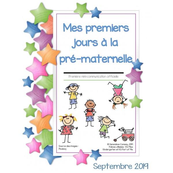Mes premiers jours à la pré-maternelle