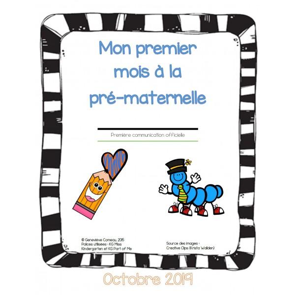 Mon premier mois à la pré-maternelle