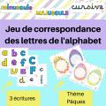 Alphabet - jeu de correspondance des lettres