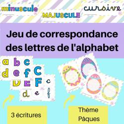 Jeu de correspondance des lettres de l'alphabet